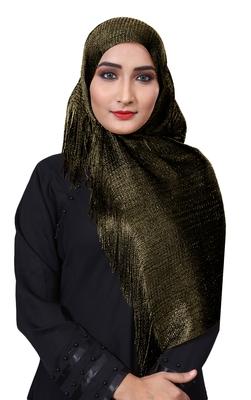 Justkartit Women's Soft Plain Lace Work Hijab Dupatta Scarf