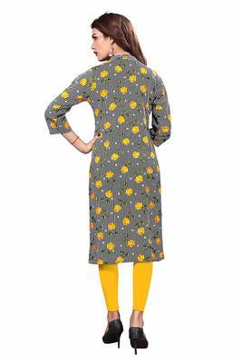 Multicolor printed rayon party-wear-kurtis
