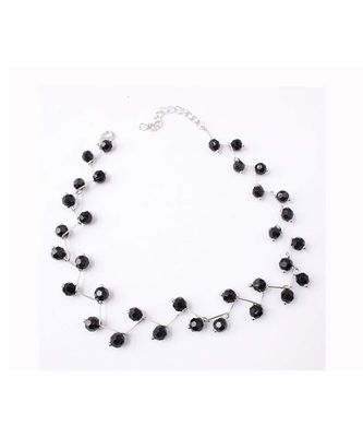 Black Silver Pearl Choker Necklace