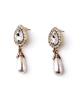 Jorality Pearl Statement Earrings