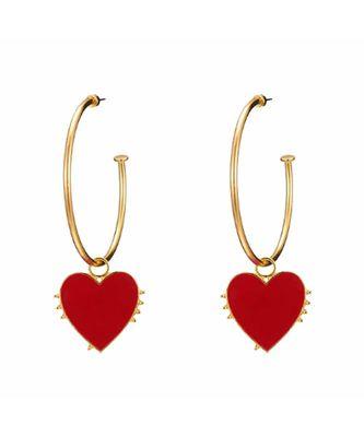 Cora Heart Stealer Golden Hoop Earrings