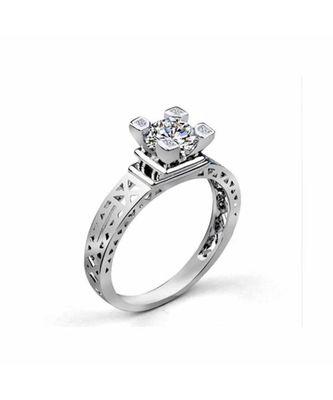 Adiya Silver Diamond Ring