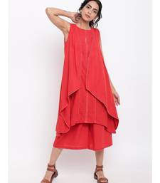 Red Lace Kurta-Jacket-Pant