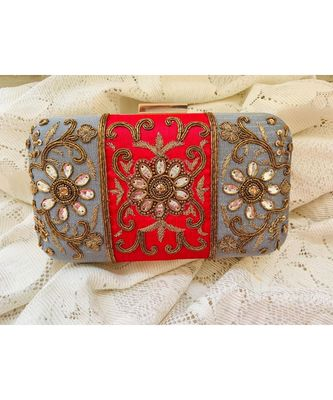 multicolor Designer  Box Clutch