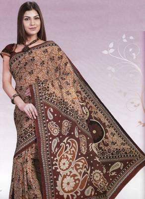 Elegant Cotton Saree With Blouse Piece D.No 966
