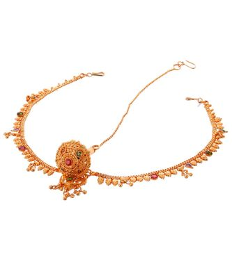 Traditional rajasthani rakdi maang tikka