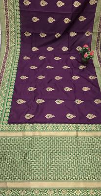 Purple Color Banarasi Silk Saree