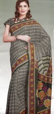 Elegant Cotton Saree With Blouse Piece D.No 972