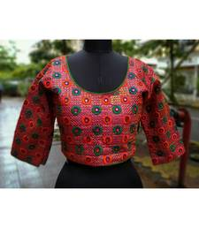 Pink Coloured Embroidered Full Sleeves Blouse In Freesize