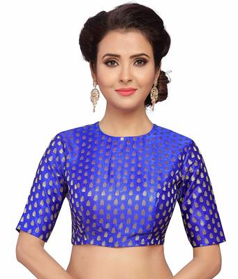 Designer Royalblue Banarasi Silk blouse