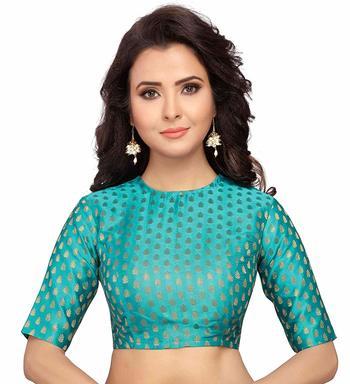 Designer Firozi Banarasi Silk blouse