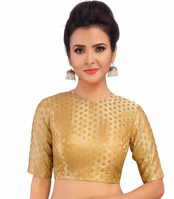 Designer Gold  Banarasi Silk blouse
