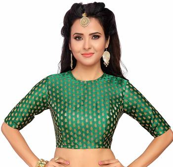 Designer Greeen  Banarasi Silk blouse