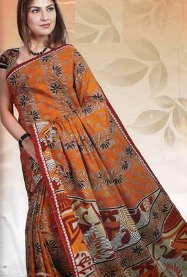 Elegant Cotton Saree With Blouse Piece D.No 980