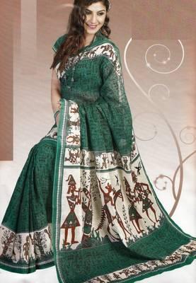 Elegant Cotton Saree With Blouse Piece D.No 983