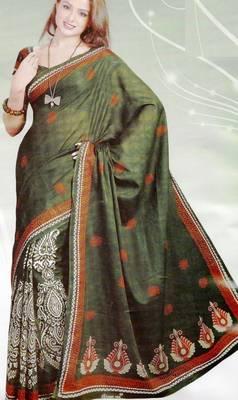 Elegant Cotton Saree With Blouse Piece D.No 990