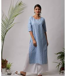 Brina Hand Block cotton Kurta
