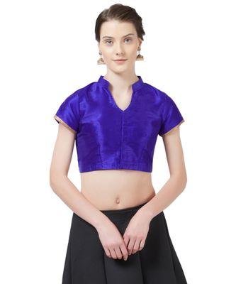 Blue Woven Design Art Silk blouse