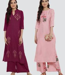 Combo Of Two Digital And Foil Print Kurtas