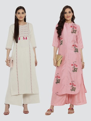 Combo Of Two Digital And Foil Print Kurtis
