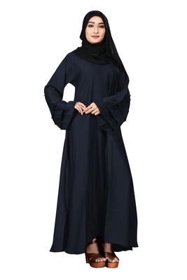 Justkartit Beads Work Casual Wear Fashionable Nida Abaya Burkha With Chiffon Hijab