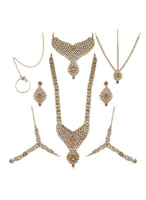 maroon stone bridal-jewellery