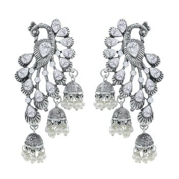 Saizen Wedding Traditional Moti Jhumka earrings Alloy Drops & Danglers