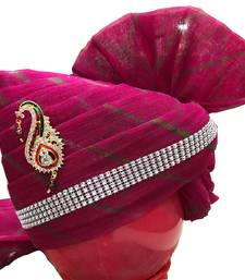 Madhu Shree Safa & Sherwani Rani colour sirpatch lahriya readymade jodhpuri safa for men