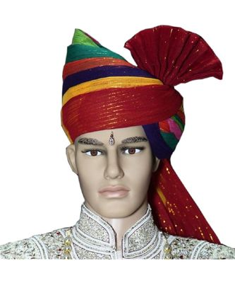 Madhu Shree Safa & Sherwani Multicolor zari readymade jodhpuri safa for men