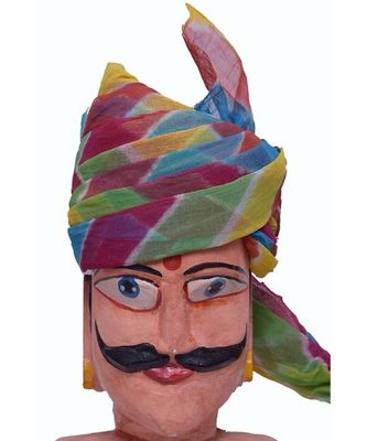 Madhu Shree Safa & Sherwani Cotton Multicolor Turban Pagdi For Mens
