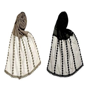 Stole For Women - Set Of 2- Designer Diamond Six Liner Flower Studed Stole