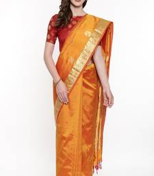 CLASSICATE From The House Of The Chennai Silks Golden Dharmavaram Silk With Running Blouse
