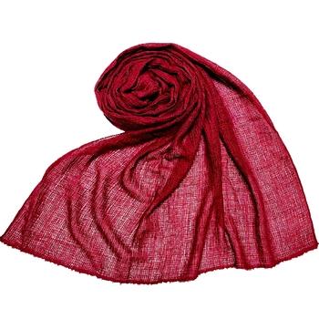Maroon  Premium Plain Cotton Hijab