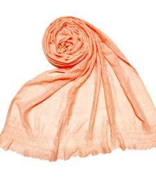 Orange Premium Plain Cotton Hijab