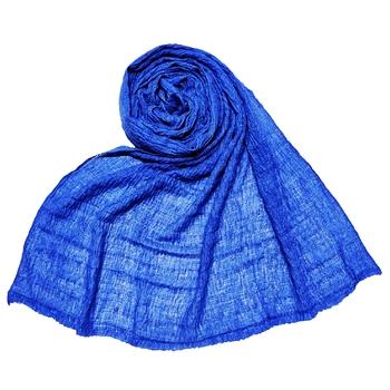 Blue  Premium Plain Cotton Hijab