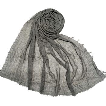 Dark Grey  Premium Plain Cotton Hijab