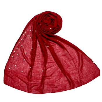 Maroon  Premium Cotton Rain Drop Hijab