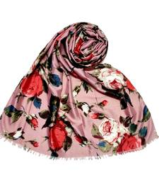 Pink  Premium Flower Printed Hijab