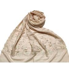 Cream  Designer Butterfly Hijab