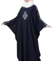 Embroidered Designer Kaftan- Navy Blue