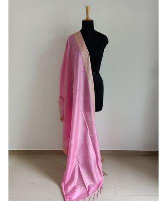 baby pink mulberry silk dupatta