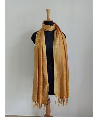 Gold mulberry silk dupatta