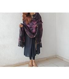 Black pink chanderi silk shibori work dupatta