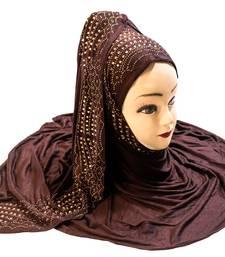 Justkartit Women's Hosiery Soft Cotton 4-Way Diamond Stone Work Hijab