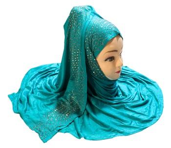 Justkartit Women'S Hosiery Soft Cotton 4-Way Diamond Work Hijab Scarf