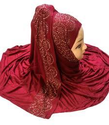 Justkartit Women's Hosiery Soft Cotton 4-Way Diamond Stone Work Hijab Scarf Dupatta