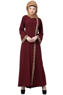Front Open Abaya- Side Slit Design
