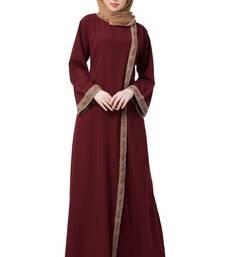 Front Open Abaya- Side Slit Design
