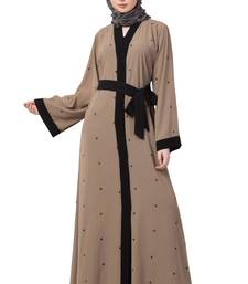 Cardigan Abaya with belt- beige color