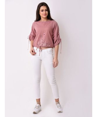 Women's Floral Embroidered Top